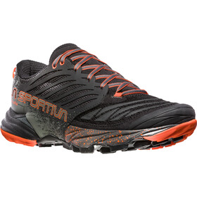 La Sportiva Akasha Running Shoes Herren black/tangerine